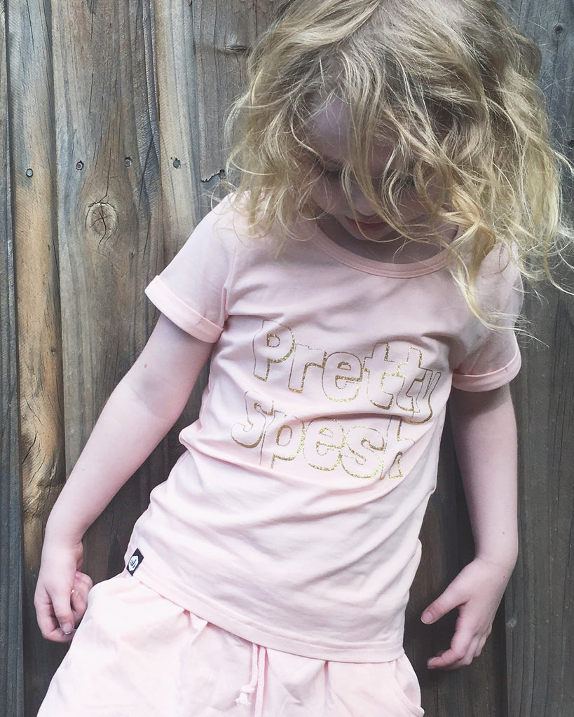 pretty spesh tee pink on model