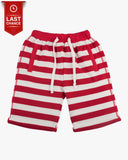 Trackie Short in Stripes Red