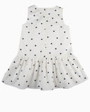 Triangle Confetti Drop Waist Dress white back