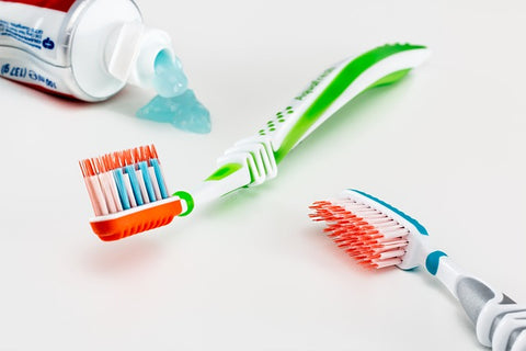 toothbrush and toothpase