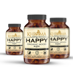 HAPPY Organic Mood Supplement - 60 Capsules