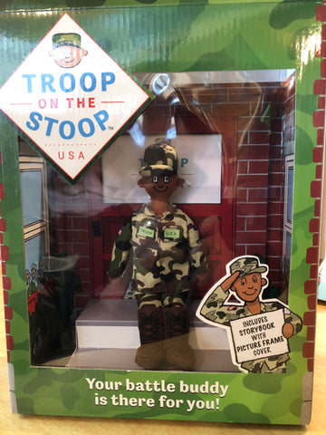 Troop on the Stoop™ (male dark skin version)
