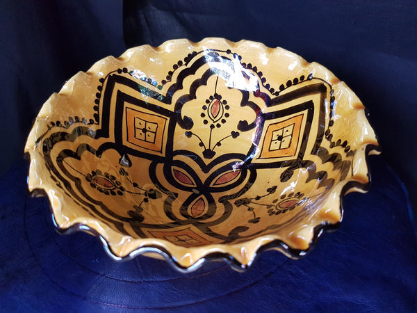 'M'tweya' Yellow Fluted Bowl 'Medium'