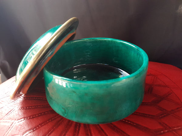 """Ghourfa"" Reefi Design Green Sugar Bowl"