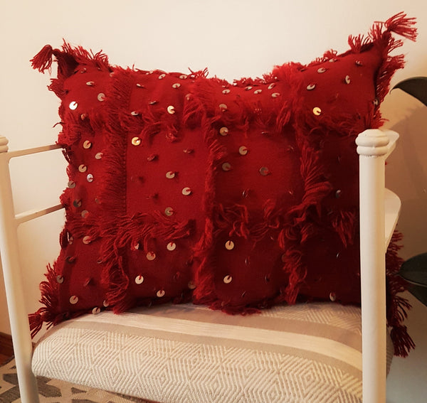 M'khada - Red Handira Pillow