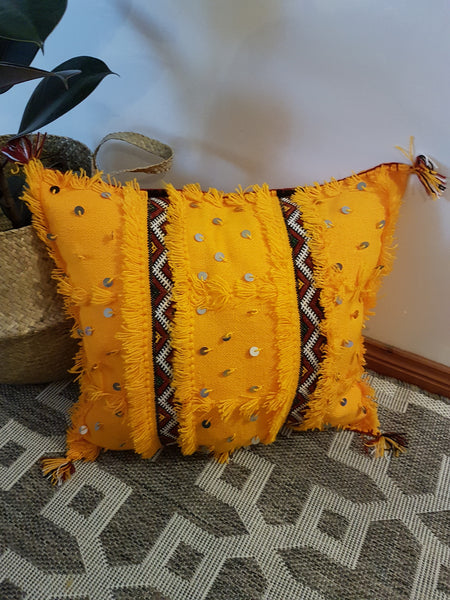 M'khada - Tribal Cushion Yellow