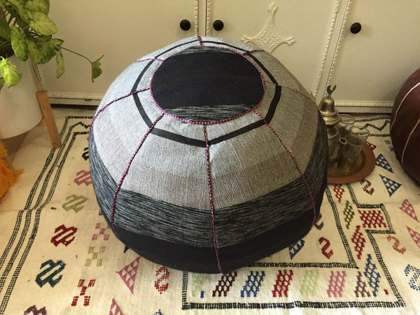 Copy of Cactus Silk Pouffe - Black