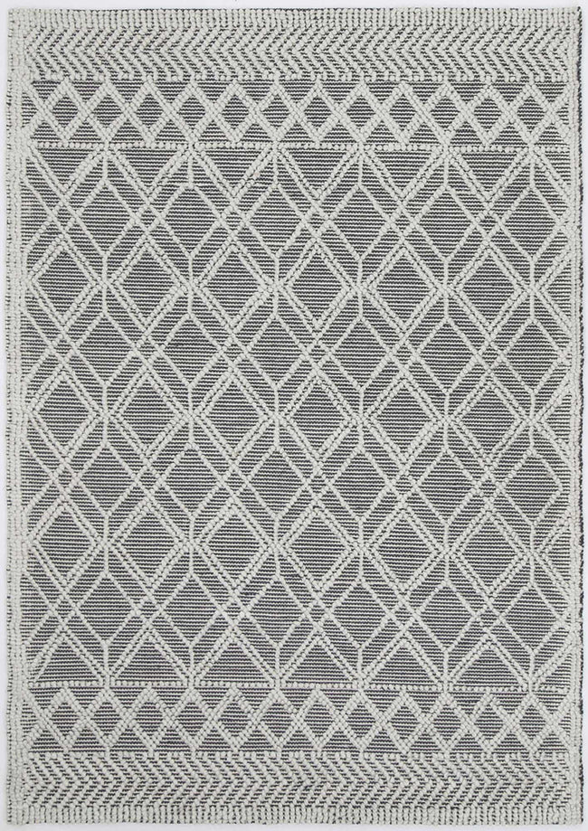 Braided Amara Contemporary Tribal Rug Ivory