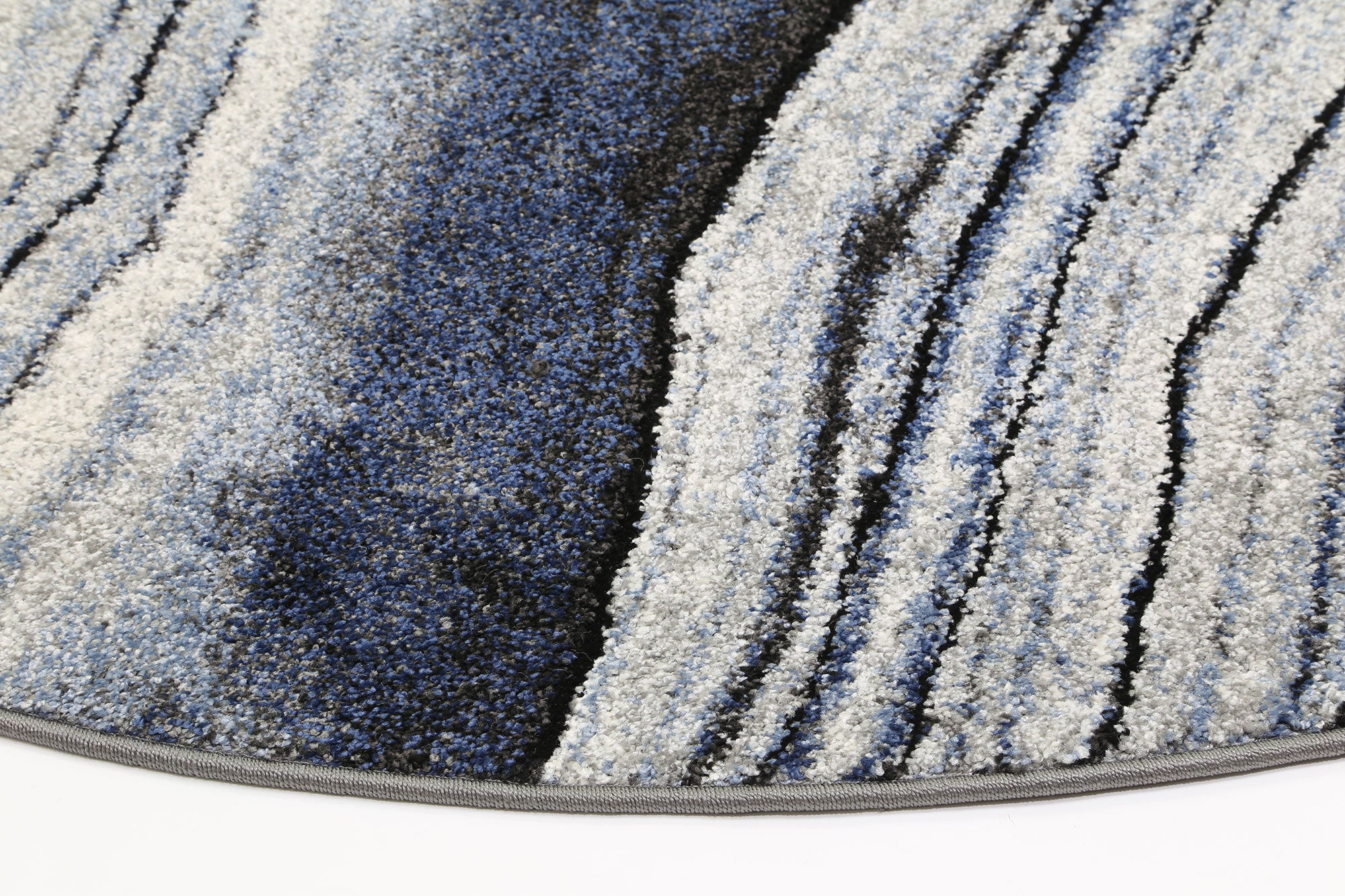 Rio Drift Blue Grey Rug