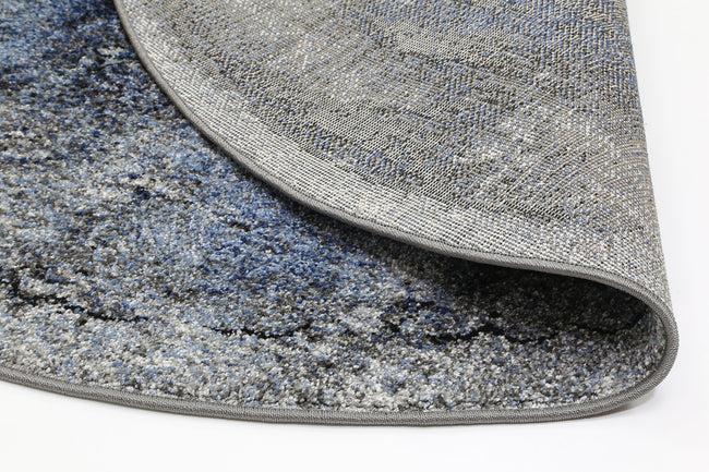 Rio Peak Blue Grey Round Rug