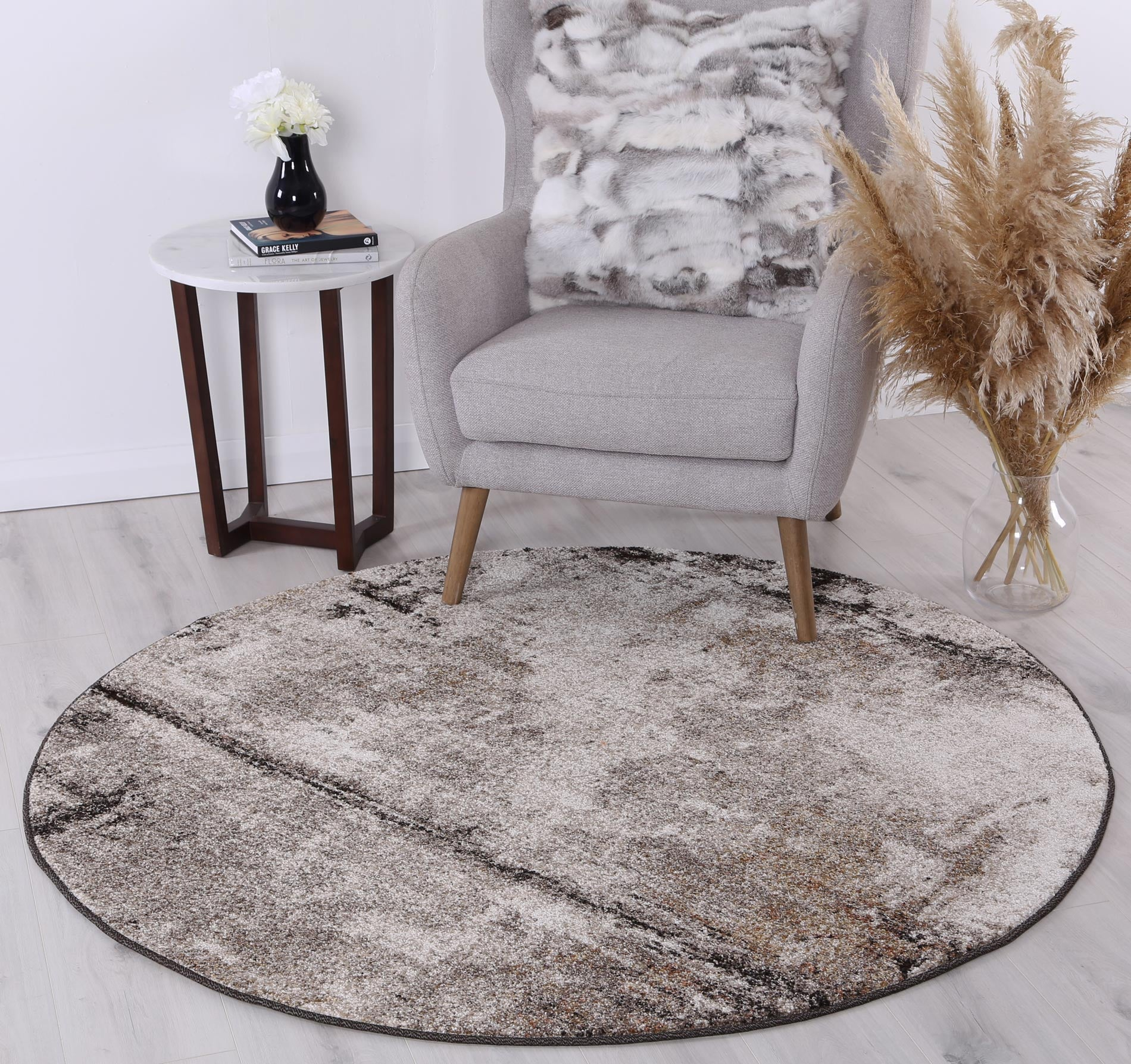 Rio Raw Beige Grey Rug - The Rugs