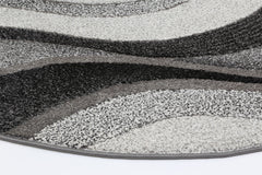 Rio Waves Grey Rug