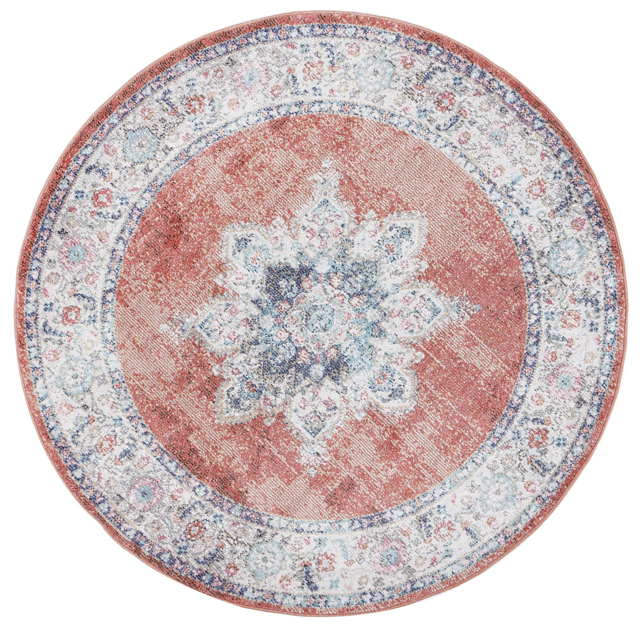 Clara Brentwood Transitional Rust Rug - The Rugs