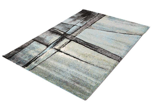 Colette Contemporary Supa Thick Grey Blue Rug