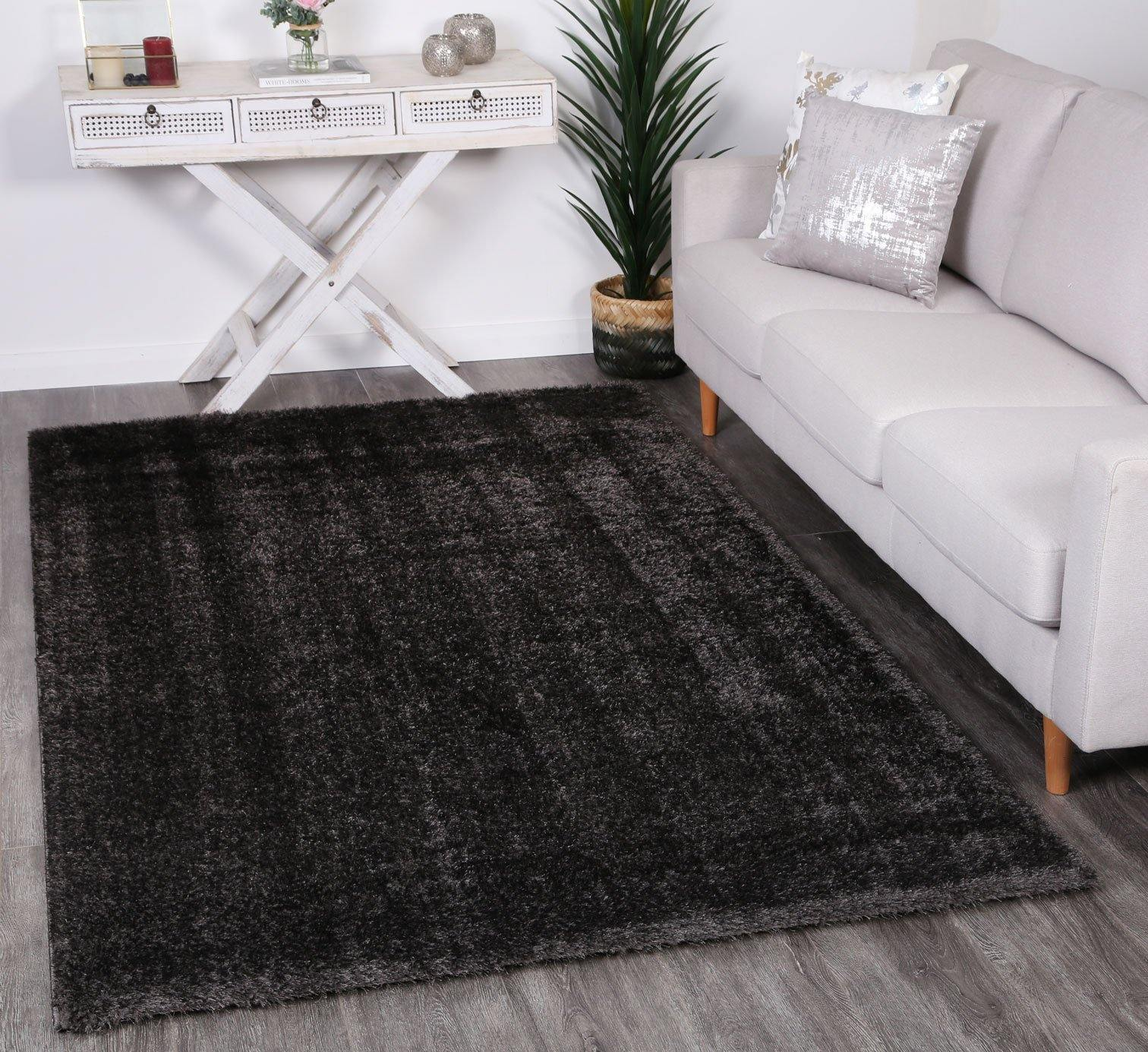 Oasis Soft Shag Anthracite Rug - The Rugs