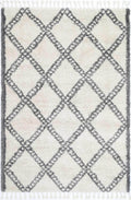 Marrakesh Leta Diamond Cream Grey Moroccan Rug