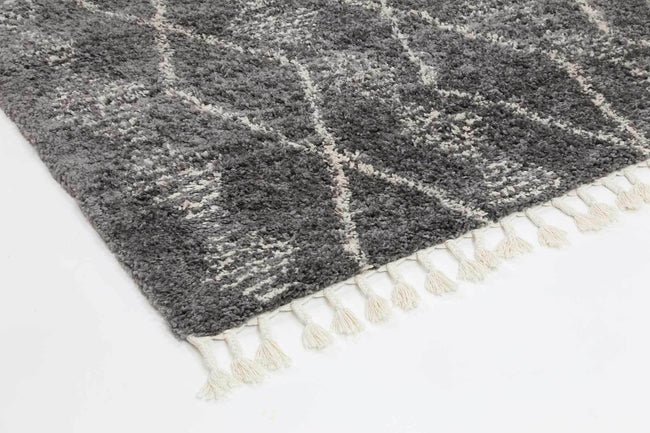 Marrakesh Zara Tribal Grey Cream Moroccan Rug