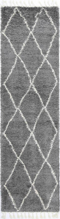 Marrakesh Clara Diamond Tribal Grey Moroccan Rug