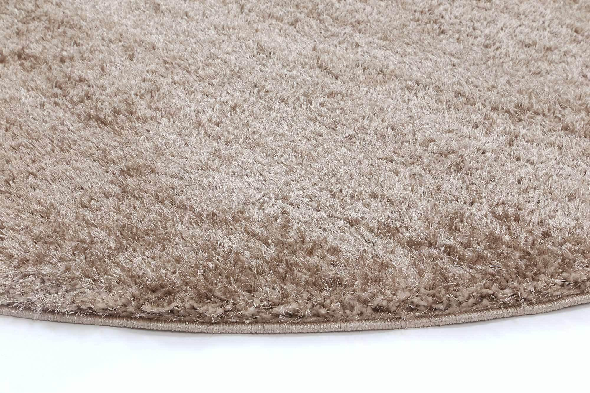 Oasis Soft Shag Round Rug Beige - The Rugs