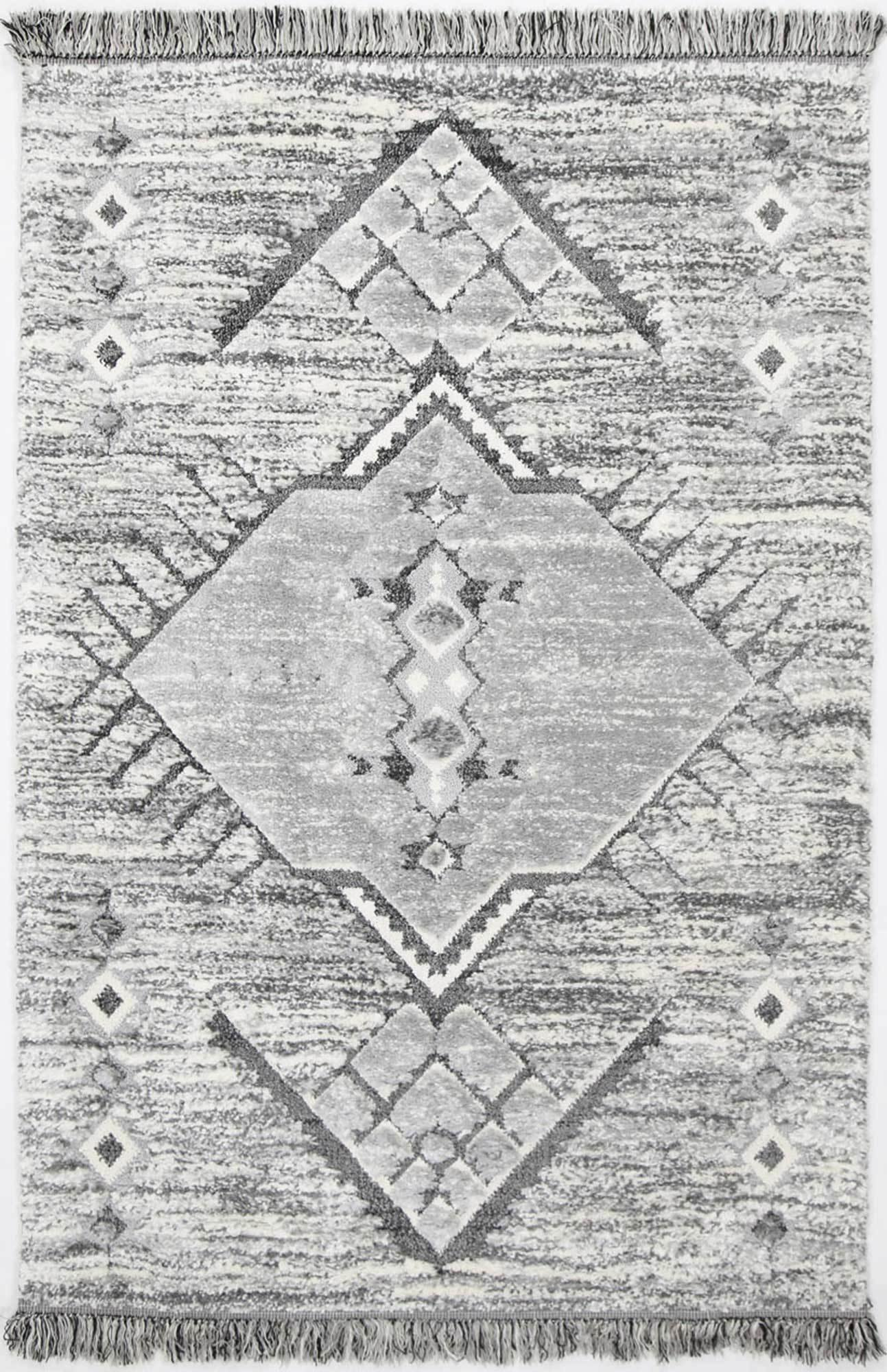 Eternity Mono Tribal Tek Cream Grey - The Rugs