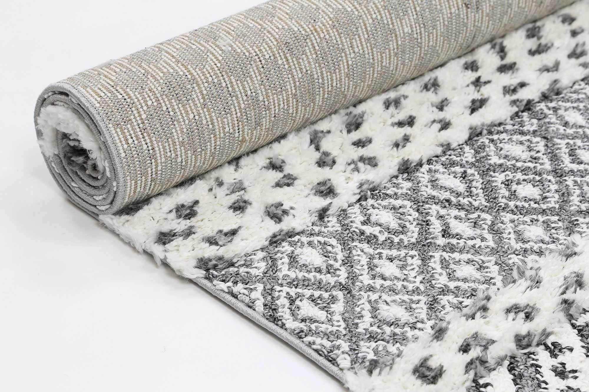 Eternity Mono Tribal Edge Cream Anthracite - The Rugs
