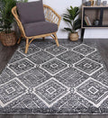 Skylar Diamond Anthracite Rug
