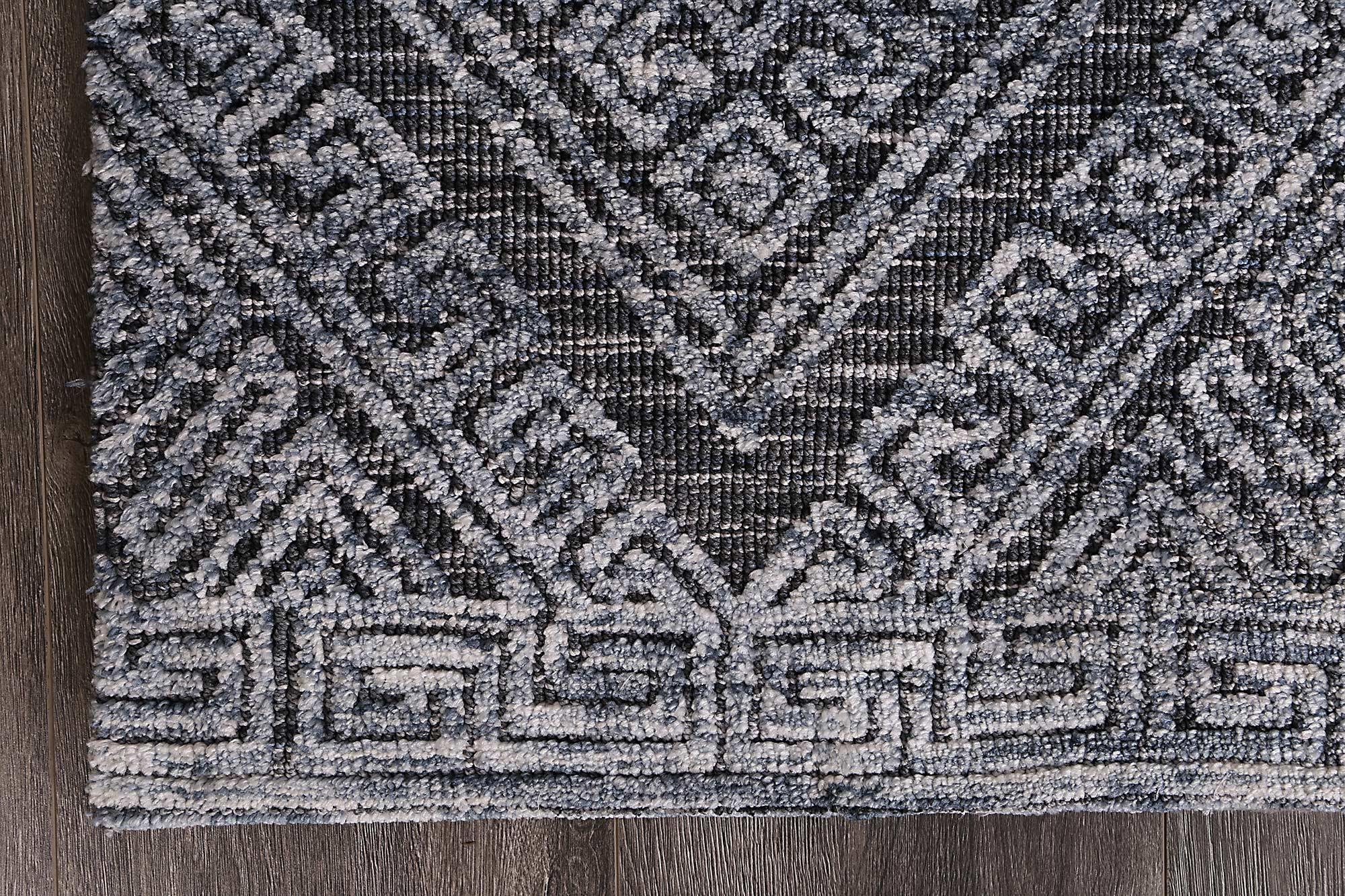 Skylar Diamond Denim Rug - The Rugs