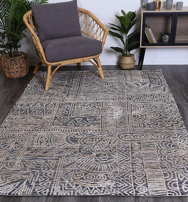 Skylar Anthacite Flower Rug
