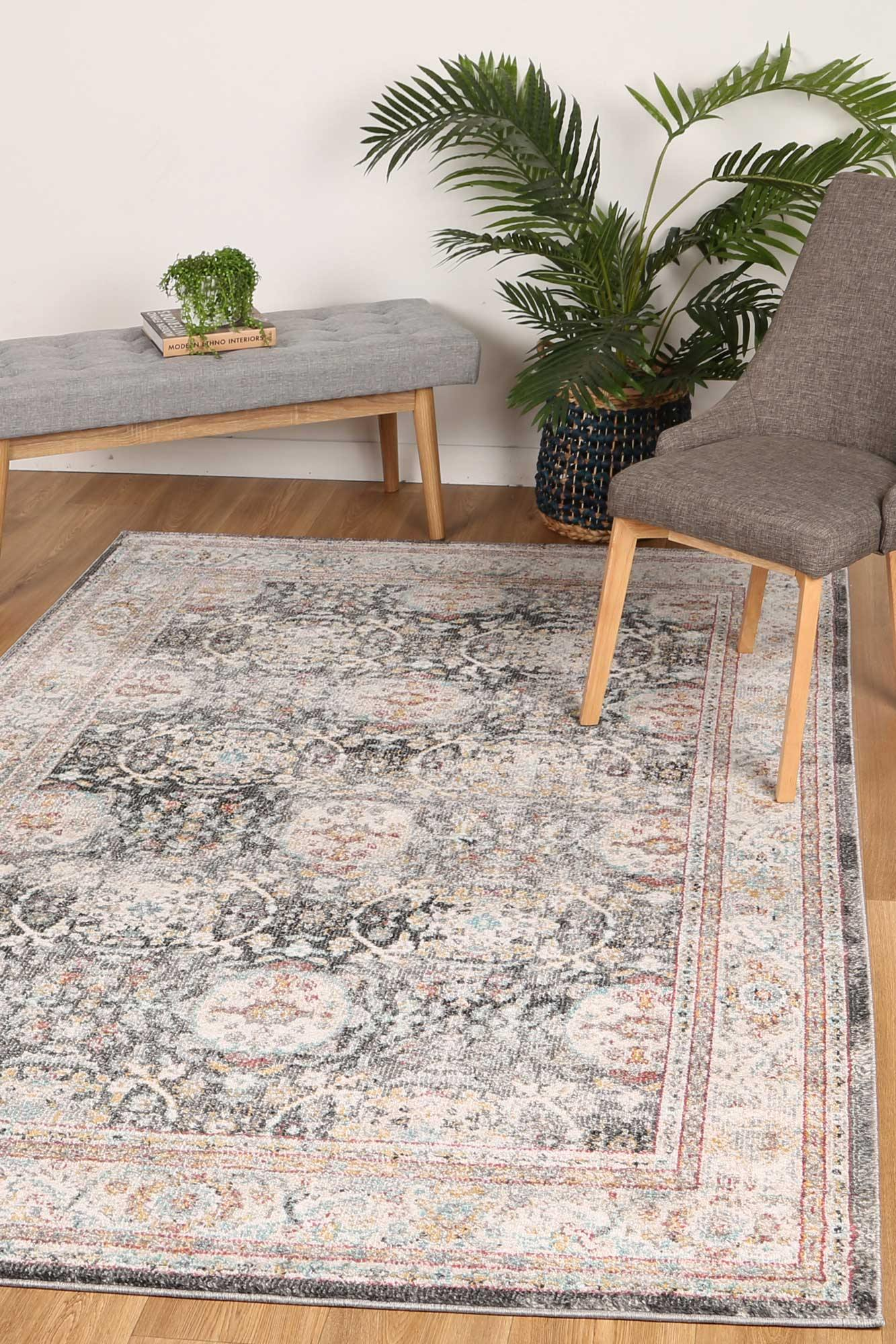 Zulu Anthacite Traditional Rug - The Rugs