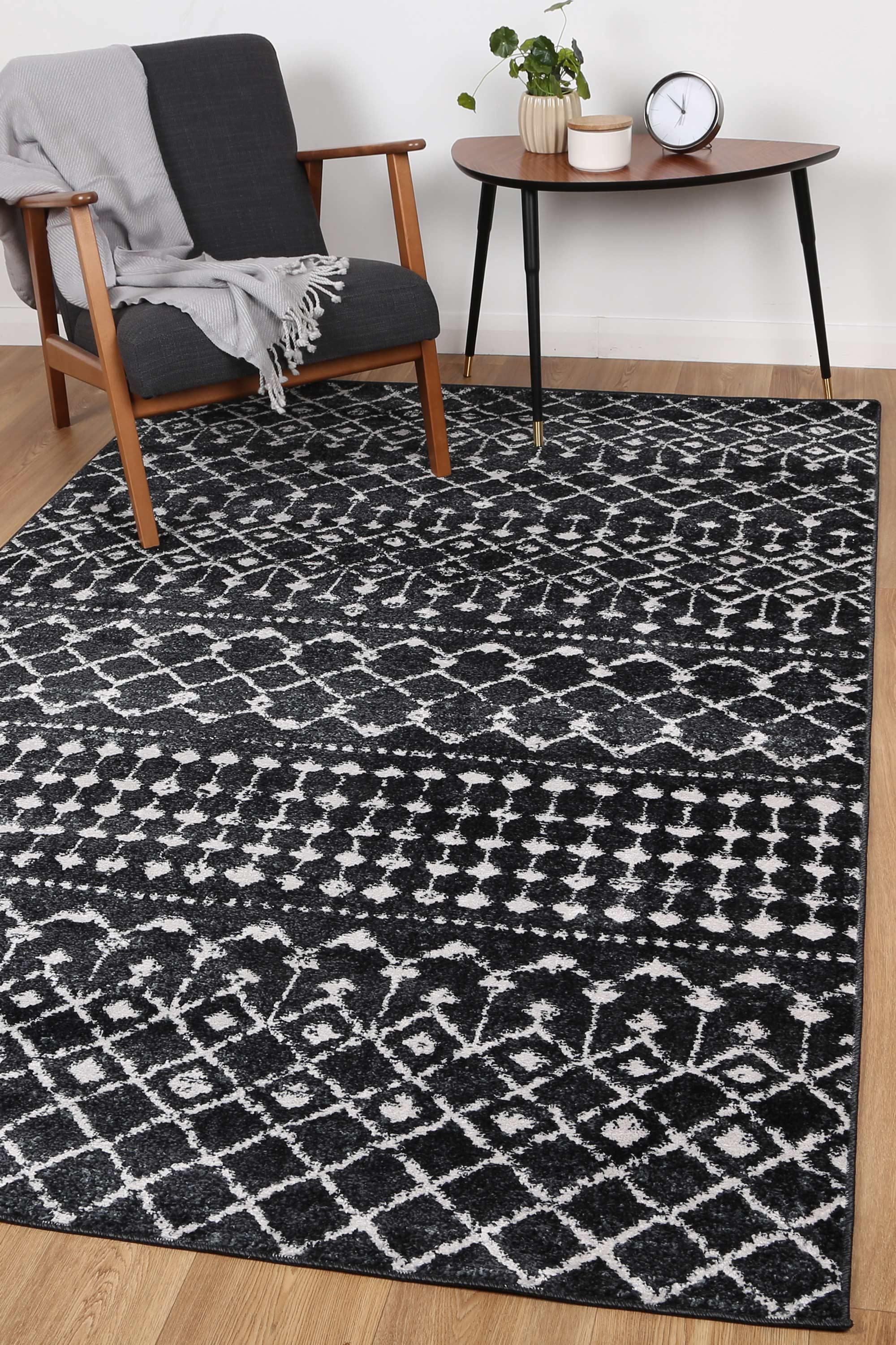 Alice Tribal Anthracite Rug - The Rugs