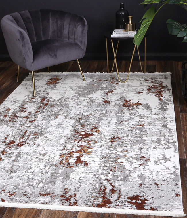 Cascade One Modern Grey Terracotta Rug