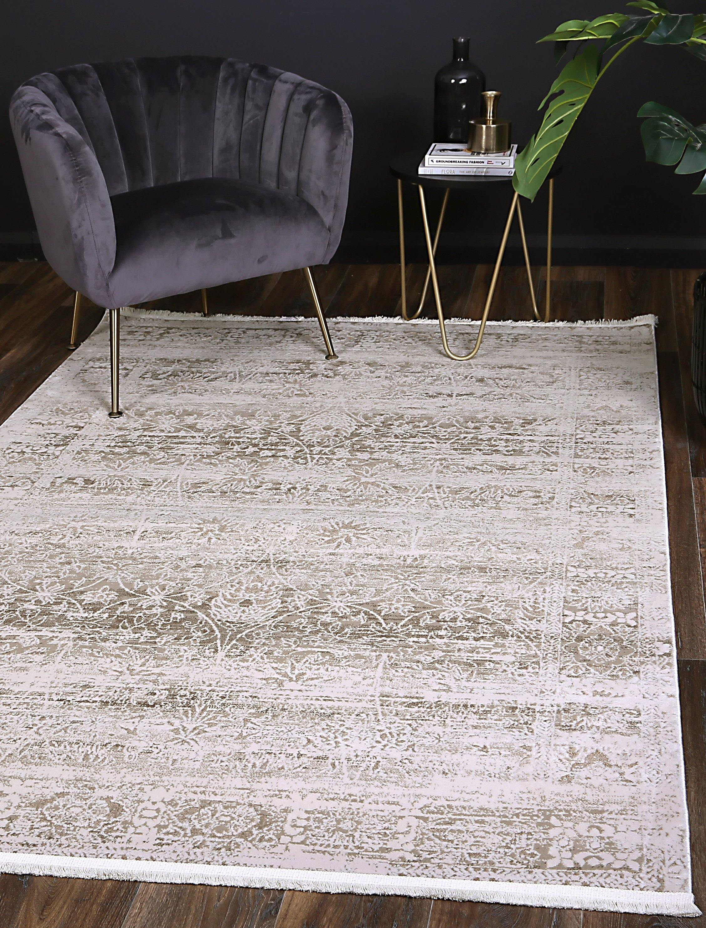 Cascade Solid Beige Modern Rug - The Rugs