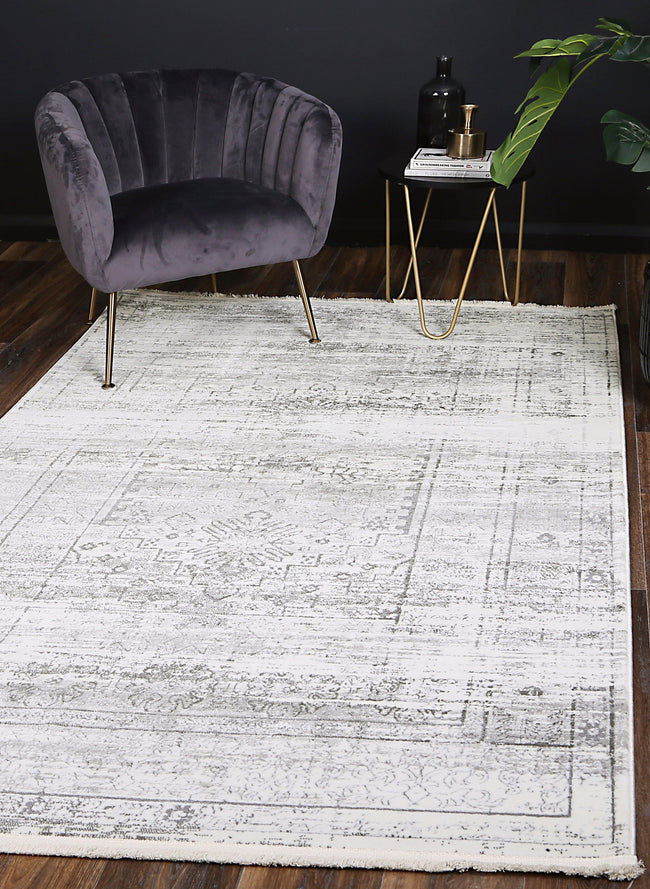 Cascade Traditional Grey Rug