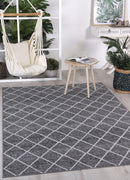 Cabana Diamond Indoor/Outdoor Charcoal Rug
