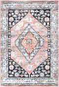 Abbot Traditional Black Beige Rug