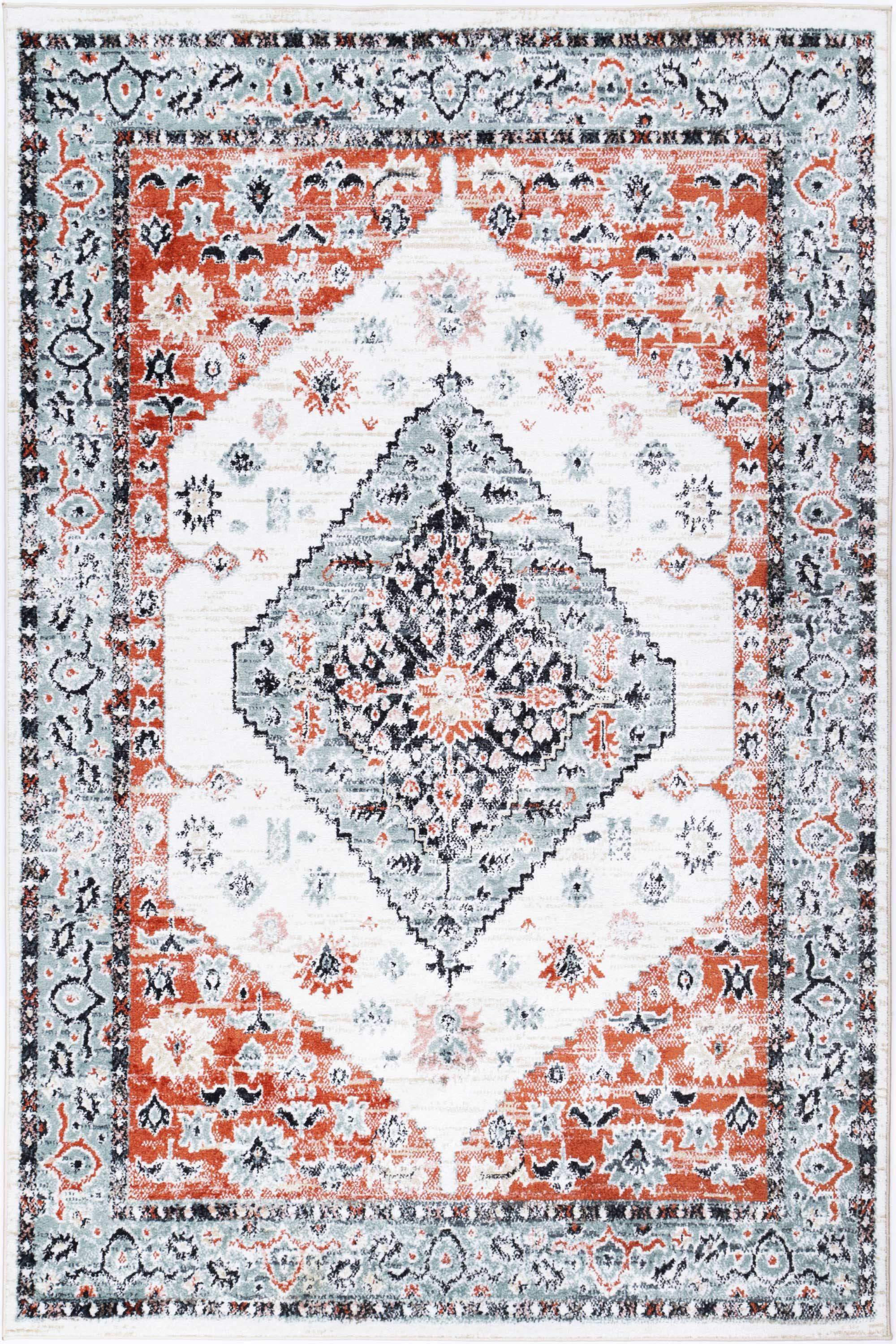 Abbot Traditional Cream Terracotta Rug - The Rugs