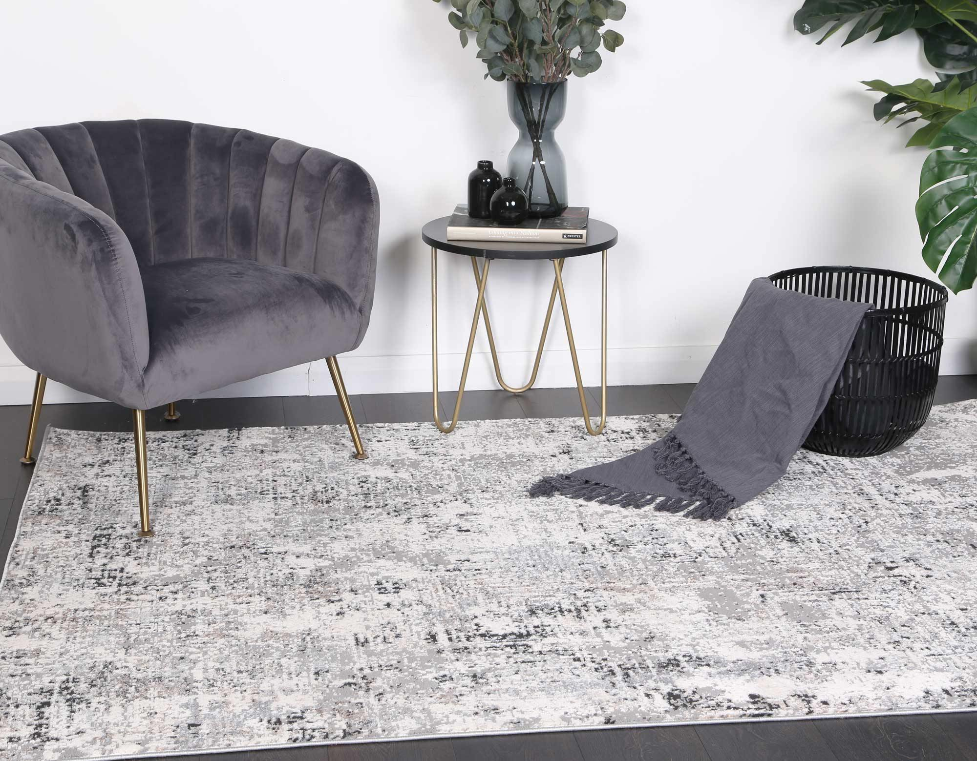 Anastasia Grey Beige Abstract Rug - The Rugs