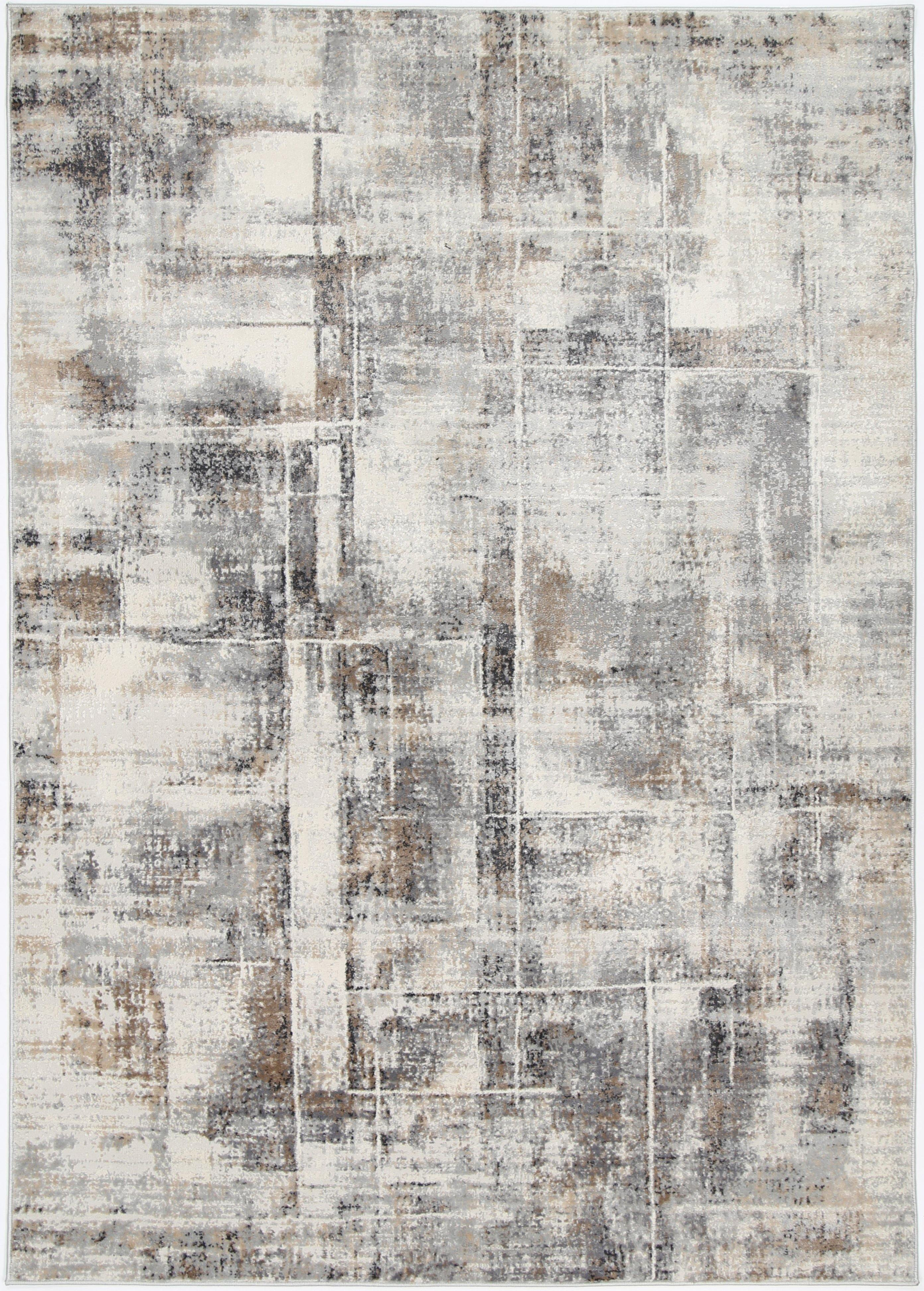 Anastasia Beige Grey Modern Rug - The Rugs