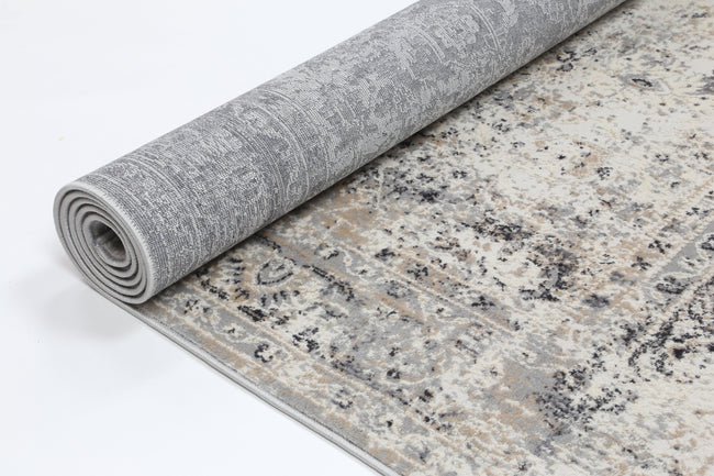 Anastasia Beige Grey Contemporary Rug