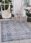 Cabana Herat Indoor/Outdoor Blue Rug