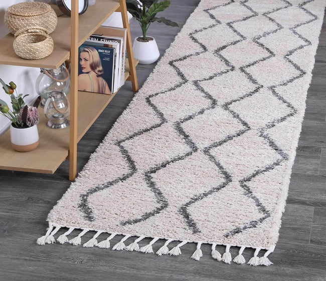 Marrakesh Levi Tribal Cream Runner Moroccan Rug