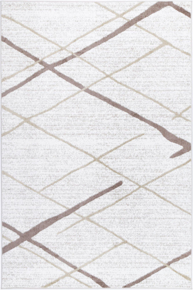 Layla Abstract Stripe Latte Rug