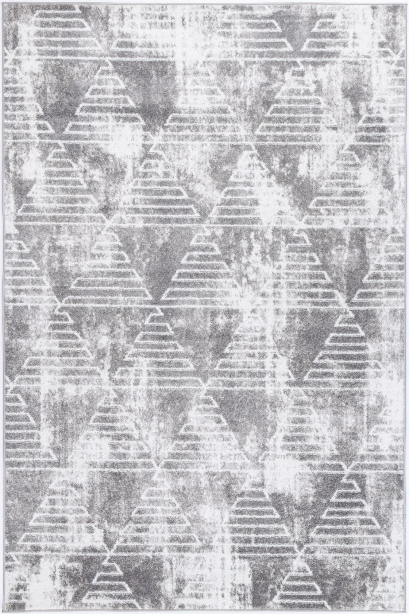 Layla Transitional Geometric Silver Rug - The Rugs