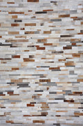 Premium Cowhide Patchwork Rug - Natural