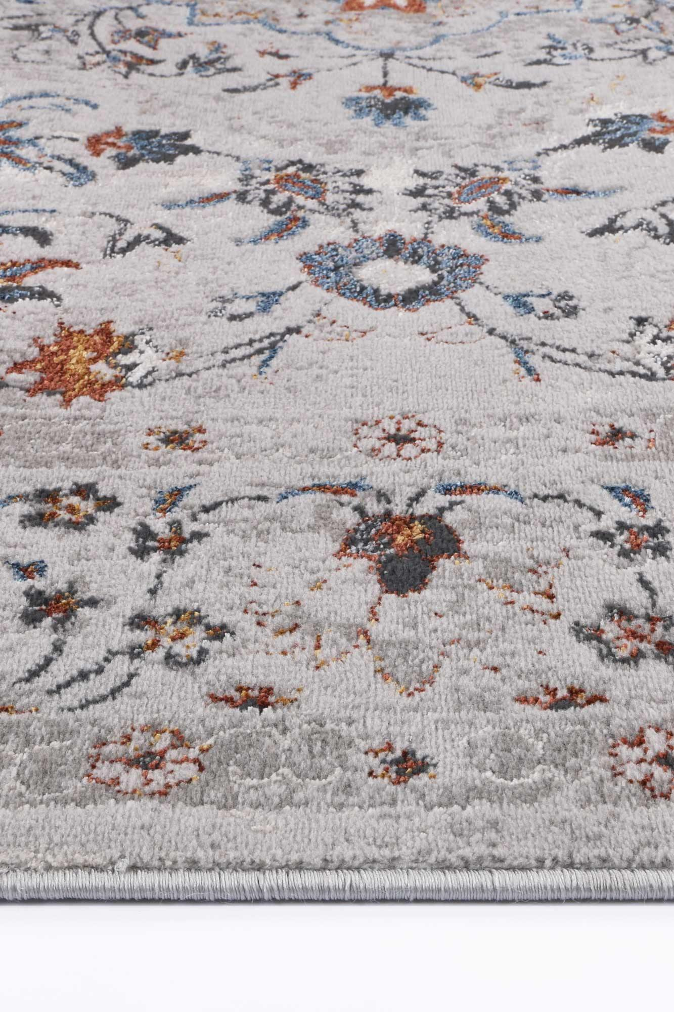 Drift Multi Grey Floral Traditional Rug - The Rugs