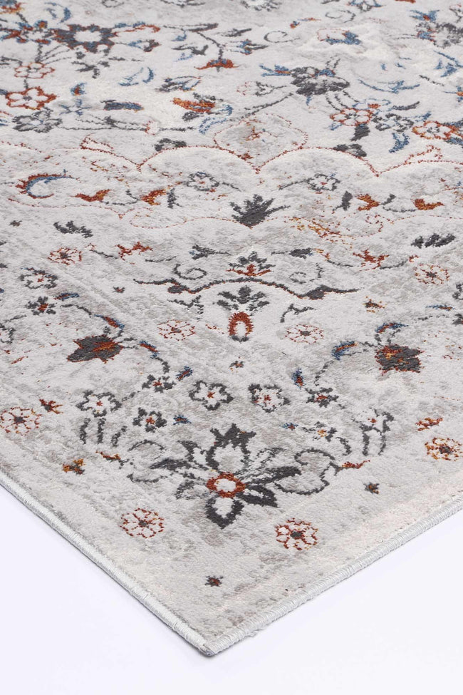 Drift Multi Grey Floral Traditional Rug