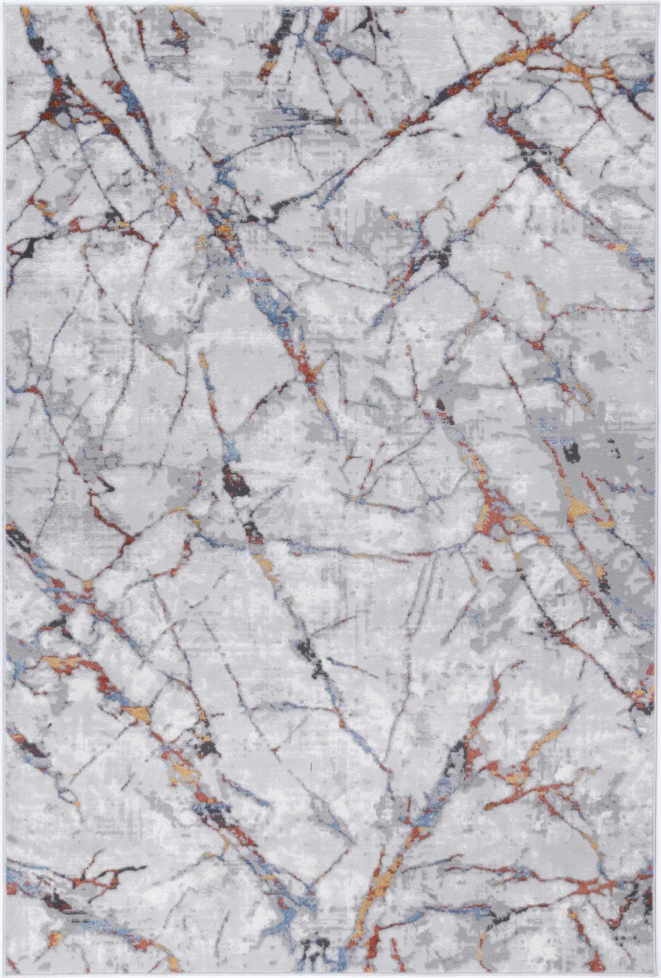 Drift Grey Multi Marble Abstract Rug - The Rugs