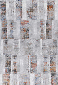Drift Grey Rust Abstract Rug
