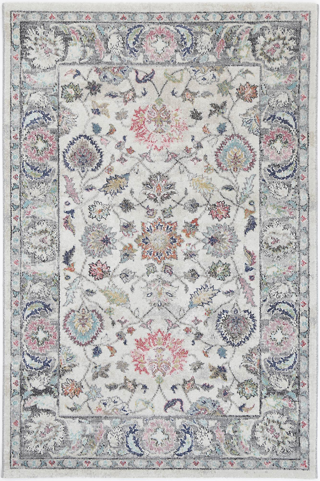 Clara Crystal Transitional Cream Rug - The Rugs