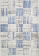 Cabana Squares Indoor/Outdoor Blue Rug